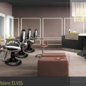 2 lavatesta elettricos 3 poltrone da barbiere ELVIS